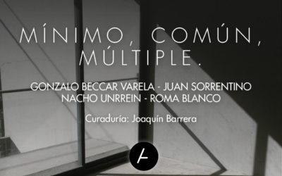 Inauguración de MÍNIMO, COMÚN, MÚLTIPLE en Galería Acéfala