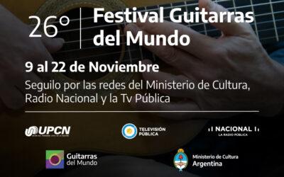 Comienza el 26° Festival Guitarras del Mundo