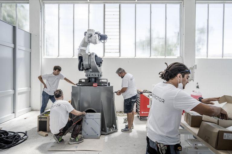 escultura con robots